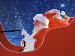 Santa Claus in Sleigh
